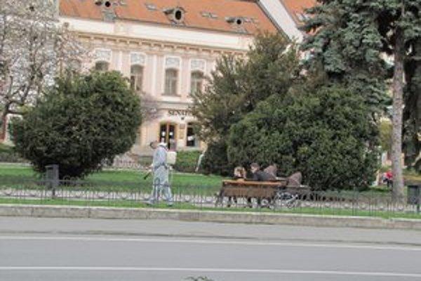 Postrek. V Prešove ničili burinu za prítomnosti ľudí v parku.
