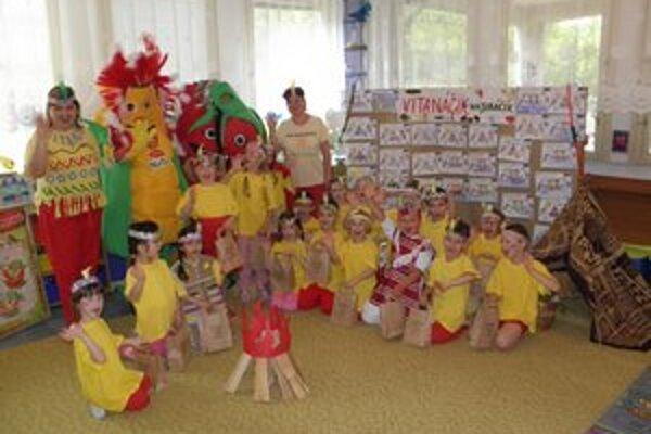 Malí škôlkari zo Sabinovskej. Učili sa hravou formou o zeleninke.