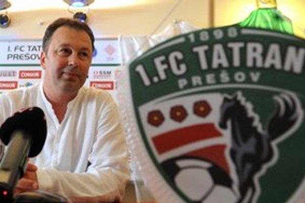 Nový tréner Tatrana Angel Červenkov.