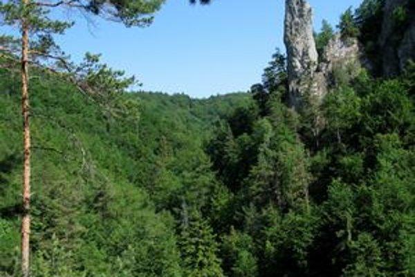 Mojžišov stĺp nad Lačnovskou tiesňavou.