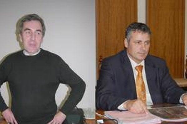Jozef Kislík, poslanec mestského zastupiteľstva a Ján Andrejko, náčelník Mestskej polície v Prešove.