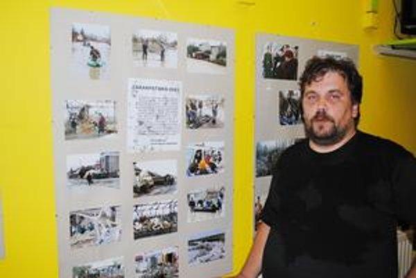 Svjatoslav Dohovič. Pripravil fotovýstavu o katastrofách.