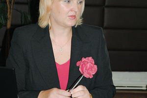 Predsedníčka MsVK. Romana Birošová.