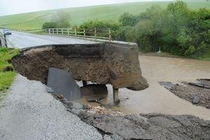 Takto vyzeral most pri Krásnej Lúke po júnovej povodni.