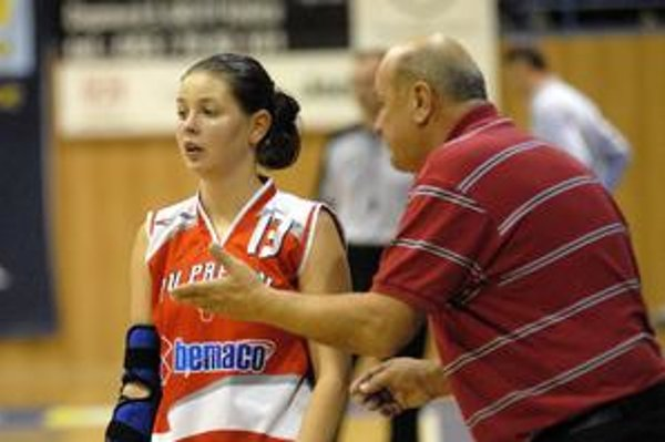 Patrícia Čižmárová. Po uzdravení ju tréner J. Rešetár poslal opäť na palubovku.