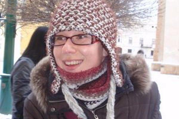 Zuzana Szittyaová. Povianočné nákupy využíva, pretože je väčší pokoj v obchodoch.