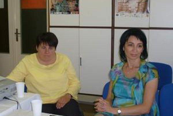 Akcia. Informovala o nej riaditeľka FNsP M. Pažinková (vpravo) a prednostka Ľ. Romanová.