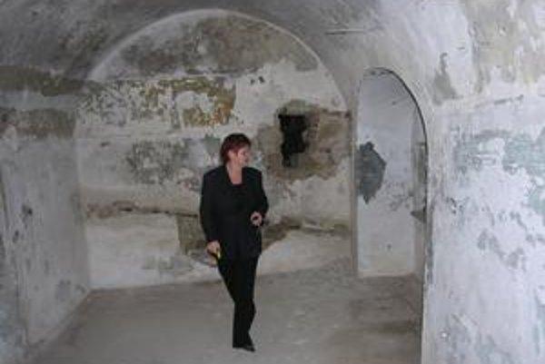 Interiér Caraffovej väznice. Objekt zatiaľ nie je prístupný verejnosti.