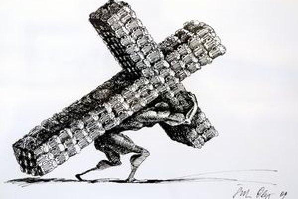 Víťazná kresba tohoročnej súťaže Zlatý Súdok. Autorom je Košičan Oleg Šuk.