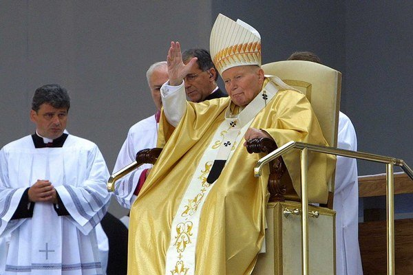 Ján Pavol II. na Slovensku v roku 2003.