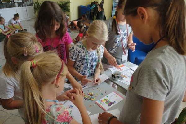 Deviaty ročník čitateľského tábora. Deti mali možnosť absolvovať kreatívny program.