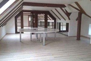 Podkrovné priestory. Budú využívané pre múzejnú pedagogiku a administratívu kultúrneho centra.