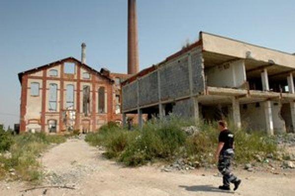 Ruiny trebišovského cukrovaru.