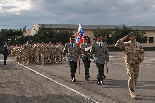 Slávnostný nástup vojakov slovenského kontingentu, ktorí sa vrátili z vojenskej operácie ISAF Afganistan, bol v priestoroch 21. zmiešaného mechanizovaného práporu Trebišov.