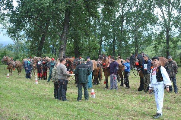 Furmanská nádielka. V Brezovici sa zišlo 14 súťažiacich.