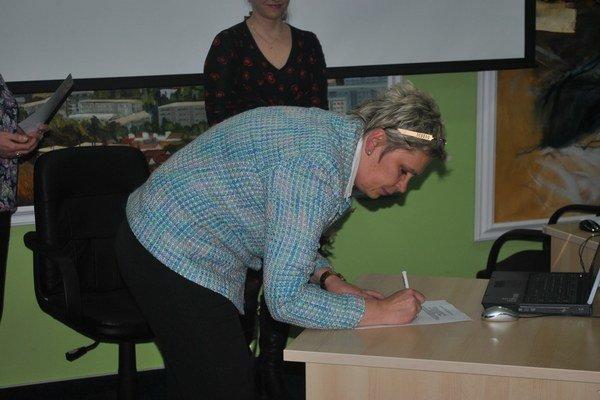 Nová poslankyňa Gabriela Mochňáková.
