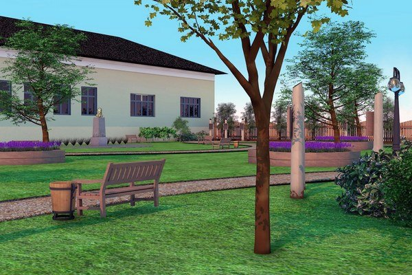 Vizualizácia. Spolu sbustou chcú obnoviť aj park pri kaštieli.