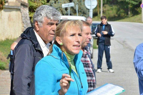 Riaditeľka pretekov Zuzana Subovitsová.