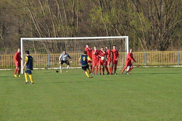 Bez efektu. Rudňany zahrávali viacero štandardných situácií, no gól z nich nevyťažil.