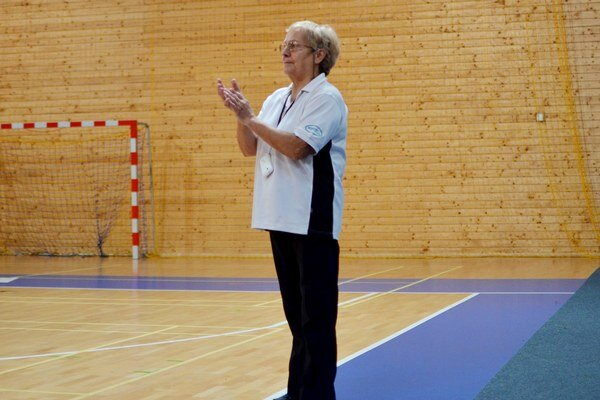 Trénerka. Mária Buzinkayová.