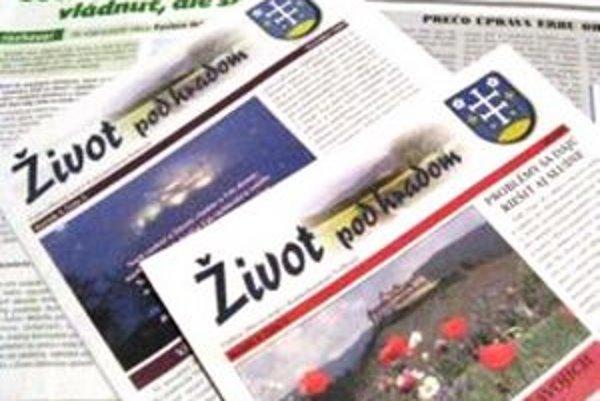 Obecné noviny Život pod hradom.