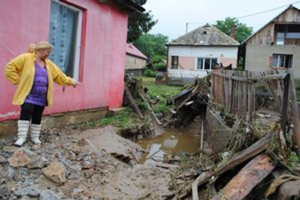 Povodeň narobila rozsiahle škody v Čoltove.