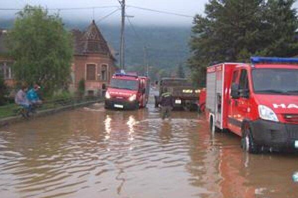 Plešivec. V tejto obci bolo povodňami zasiahnutých najviac ľudí z okresu.