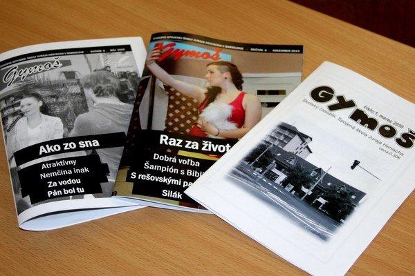 Ocenený časopis Gymoš.
