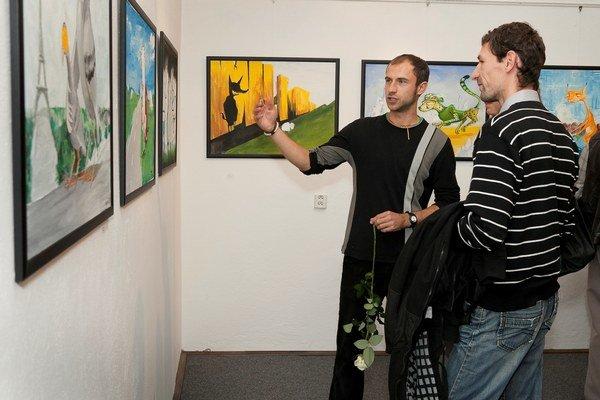 Výtvarník Radovan Šenšel a jeho prvá výstava z cyklu Bájky.
