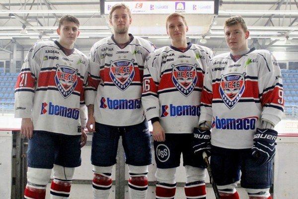 Na svetovej univerziáde si zahrajú: (zľava) Marcel Baláž, Peter Slimák, Ondrej Gmitter, Dominik Kramár.