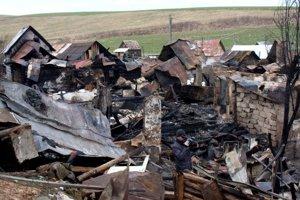 Po požiari v Malcove.