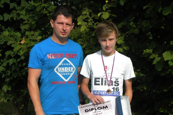 Telocvikár Gabriel Balšaj s talentovaným Kristiánom Eliášom.