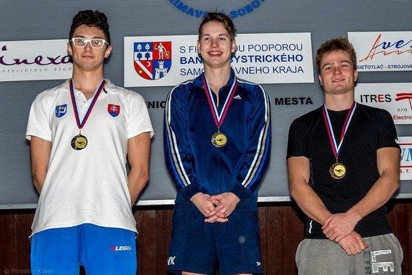 Martin Babjak. Skončil druhý vznaku na 50 metrov.