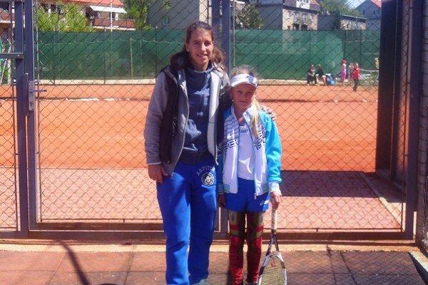 S Janette Husárovou vBratislave. Mladá Humenčanka skončila na treťom mieste.
