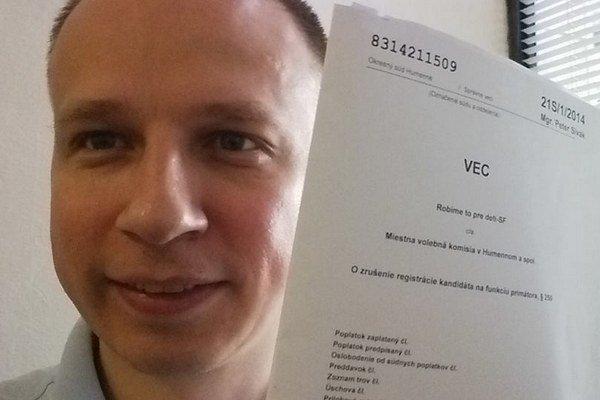 Martin Daňo. Z volieb ho vyradil oskenovaný podpis.