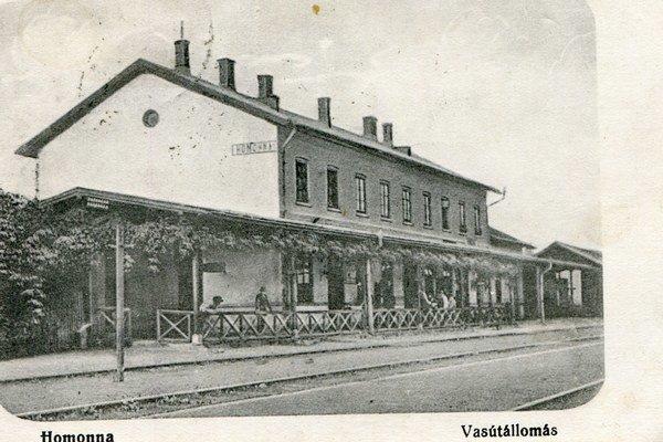 Stanica na jednom z najstarších záberov.
