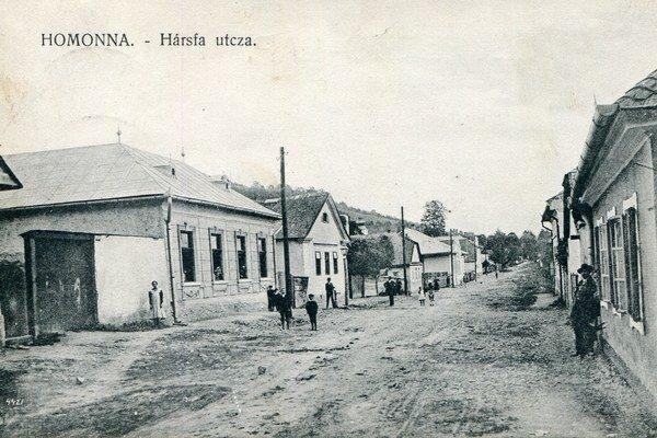 Najstarší záber Lipovej ulice.