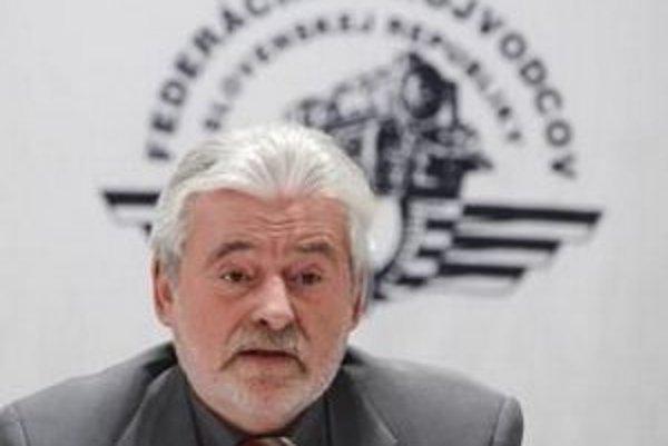 Prezident Federácie strojvodcov Milan Hošták.