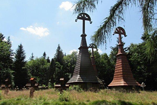 Rotunda, najznámejší cintorín Dušana Jurkoviča v Haliči.