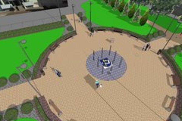 Revitalizácia parku pred hotelom Karpatia.