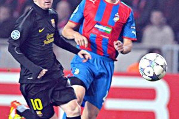 Marián Čišovský a Lionel Messi.
