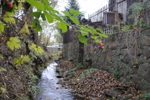 Kde končia splašky. V Dlhom nad Cirochou nájdete za domami aj takéto rúry, ktoré ústia do potoka Hodkovec.