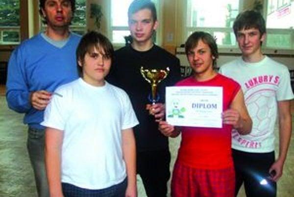 Majstri. Chlapci zo ZŠ Pugačevova Humenné.