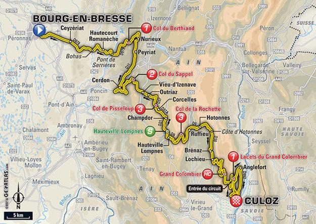 Pätnásta etapa Tour de France 2016.