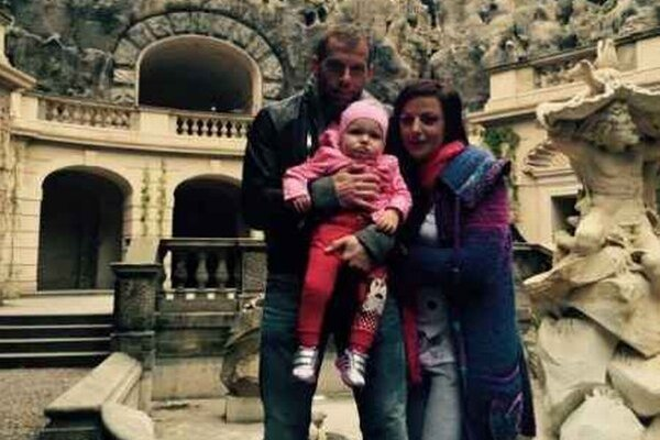 Marián Kelemen s rodinou. S manželkou Kristínou a dcérkou Chloe.