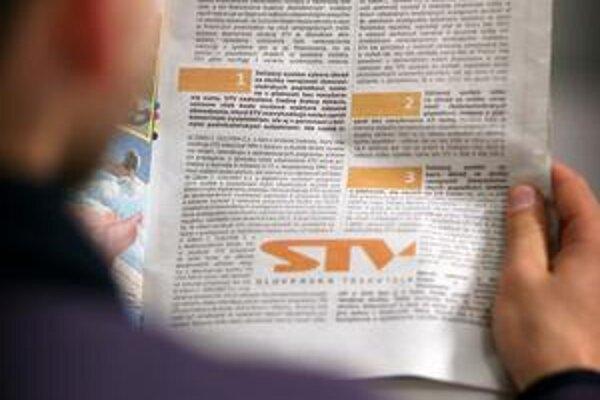 Vedenie STV povedalo, ako si predstavuje záchranu televízie. V inzeráte.