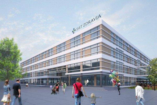 Vizualizácia novej nemocnice.