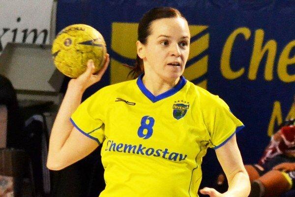 Terézia Szöllösiová. V Zlíne podala dobrý výkon, strelila osem gólov.