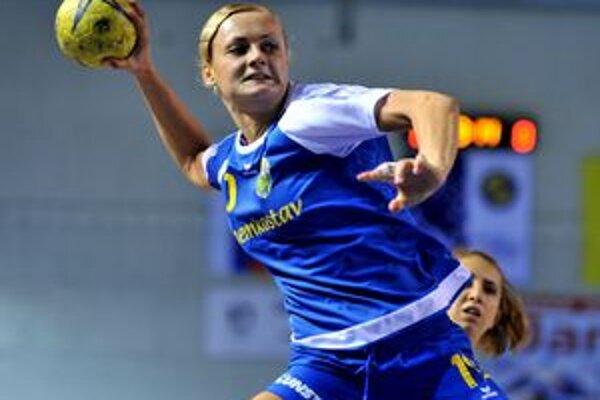 V Banskej Bystrici nehrala. A. Polláková (na snímke) a Z. Hollá nebola nominovaná na zápas.
