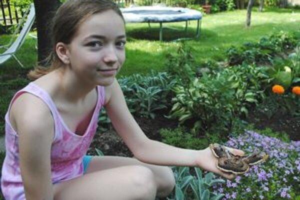 """Motýlí obor. """"Je nádherný,"""" hovorí Lucia Peštová. Motýľ im pristál v záhrade."""